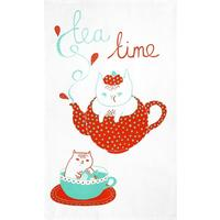 Tea Time Tea Towel by Gemma Correll