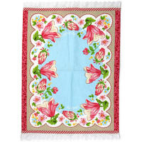 Pip Studio - Blue Flower Border Tea Towel - 50x70cm