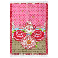 Pip Studio - Pink Sunflower Tea Towel - 50x70cm