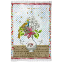 Pip Studio - White Flower Vase Tea Towel - 50x70cm