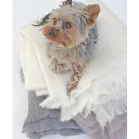 Ivory Mohair Luxury Throw