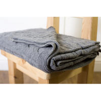Lambswool Throw - Grey