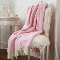 Variegated Herringbone Pink Heather Blanket