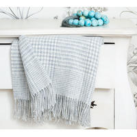 Prince of Wales Check Grey Blanket
