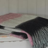 Old Rose Stripe Throw