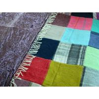 Patchwork Luxury Pure Wool Throw