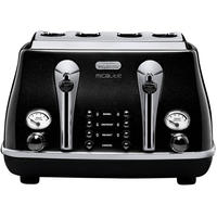 DeLonghi Icona Micalite Toaster - Pearlescent Black