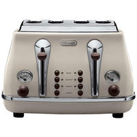 DeLonghi Icona Vintage Toaster - Beige Gloss