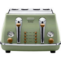 DeLonghi Icona Vintage Toaster - Olive Green Gloss