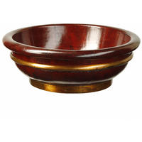 Wooden Bowl with Copper Banding