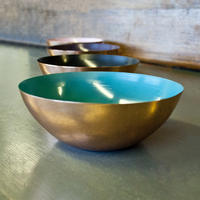 Indian copper bowl with enamel (4 colours available)