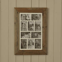 Multiframe Ten Picture Natural Wood