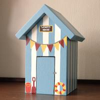 Personalised Seaside Beach Hut Keepsake Box from Lindleywood