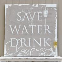 'Save Water Drink Champagne' Wall Art