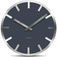 Leff Amsterdam Metlev Grey Glass Clock by Leff