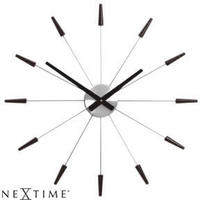 Plug Inn Wall Clock Black