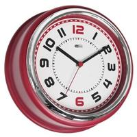 Red Kitchen Diner Wall Clock