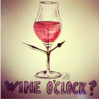 Is it wine o'clock yet? - Wall Clock