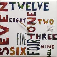 Painted Numbers Wall Clock