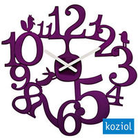 Koziol Pip Plum Wall Clock