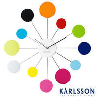 Karlsson Water Lily Multi Coloured Clock
