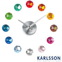 Karlsson Diamond DIY Multi Coloured Clock