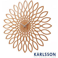 Karlsson Wood Sunflower Clock