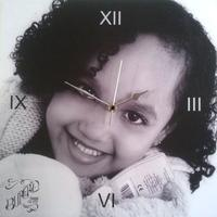 Personalised Photo Clock (Roman Numerals)
