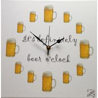 """It's definitely beer o'clock"" wall clock"