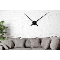 SIMPLE TIME - huge design wall clock 80cm black hands clock