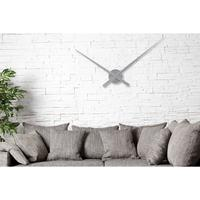 SIMPLE TIME - huge design wall clock 80cm silver hands clock