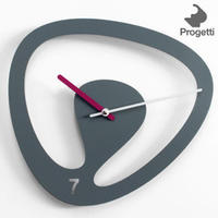 Seven Wall Clock - Grey