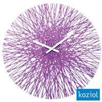 Koziol Silk Wall Clock - Purple