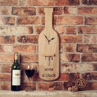 Wine Lovers Handcrafted Wall Clock