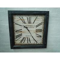Peckett & Sons Square Iron Clock