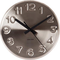 Karlsson Wall Clock Bold Engraved Steel