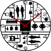 Model Kit Wall Clock Black
