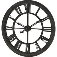 Roman Large Mirrored Black Wall Clock