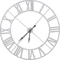 Industrial Huge White Metal Wall Clock