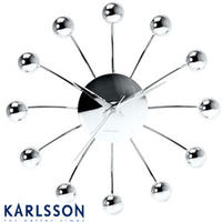 Karlsson Chrome Spider Clock