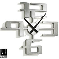 Umbra Big Time Clock - Nickel