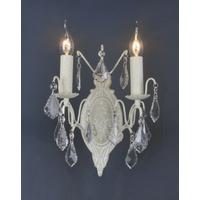Antique White Wall Light - 2 Arms