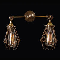 Jailhouse Gemini Antique Brass Wall Light