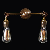 Vintage Industrial Gemini Wall Light