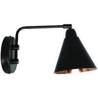 Area Black & Copper Industrial Wall Light