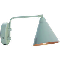 Area Grey & Copper Industrial Wall Light