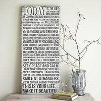 'Today Is The Day' Vintage Sign