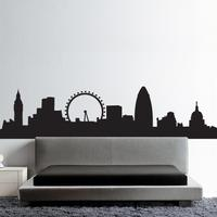 HU2 Wall Art Stickers London Skyline Wall Sticker