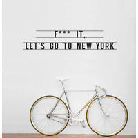 HU2 Wall Art Stickers Let's Go to New York Wall Sticker