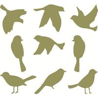 Bird Group 4 (As included with Leafy Trees) Wall Stickers